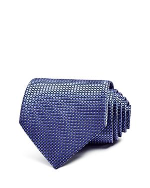 E Zegna Micro Grid Classic Tie