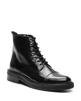 The Kooples - Men's Commando Lace-Up Leather Combat Boots