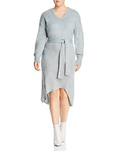 Lost Ink Plus - Belted Knit Dress