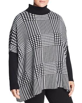 Joseph A Plus - Turtleneck Graphic-Check Sweater