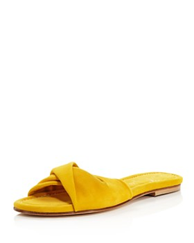 Bettye Muller - Women's Score Twisted Suede Slide Sandals
