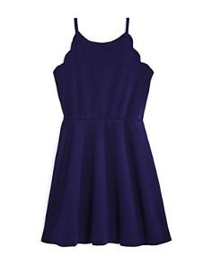 AQUA - Girls' Scalloped Skater Dress, Big Kid - 100% Exclusive