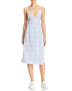 NIGHTWALKER Selma Wrap Dress - 100% Exclusive in Blue/White Polka Dot