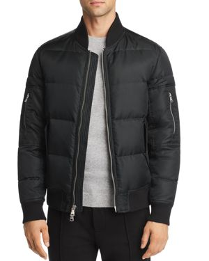 PACIFIC & PARK Polyfill Bomber Jacket- 100% Exclusive in Black