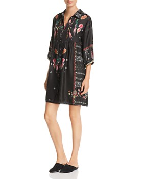 Johnny Was - Agalia Embroidered Silk Dress