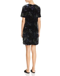 Eileen Fisher - Printed Velvet Shift Dress - 100% Exclusive