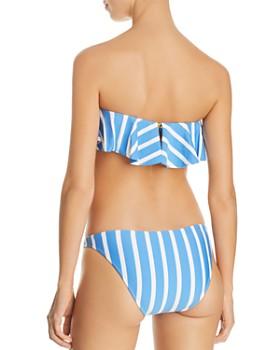 MILLY - Stripe Swim Ruffled Bandeau Bikini Top & Stripe Swim St. Lucia Bikini Bottom
