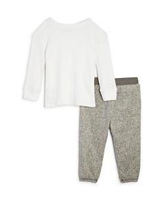 Splendid - Boys' Waffle-Knit Shirt & Marled Jogger Pants Set - Baby