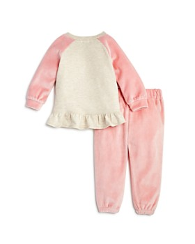 Splendid - Girls' Velour Ruffled Sweatshirt & Sweatpants Set - Baby