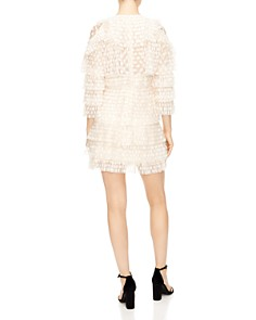 Sandro - Beautee Tiered Lace Cold-Shoulder Dress
