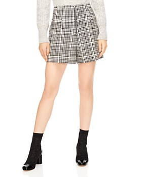 Sandro - Mauro Houndstooth Mini Shorts