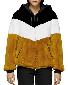 Mackage - Fabia Reversible Multicolored Fur Jacket