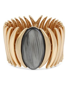 Robert Lee Morris Soho - Oval Stone Sculptural Stretch Bracelet