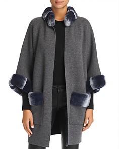 Maximilian Furs - Rabbit Fur Trim Cashmere Cardigan - 100% Exclusive