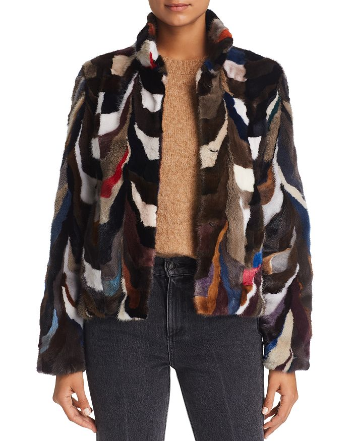 Maximilian Furs - Multicolored Saga Mink Jacket