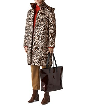 Whistles - Leopard-Printed Puffer Coat