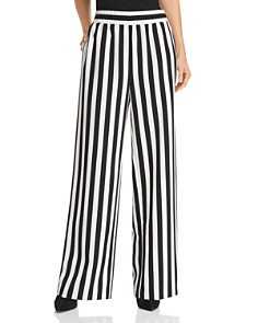 Alice and Olivia - Benny Striped Wide-Leg Pants