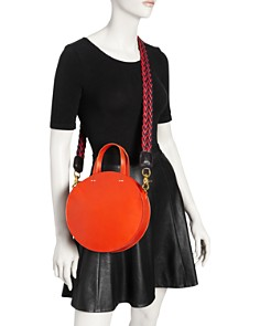 Clare V. - Alistair Petite Leather Circle Crossbody
