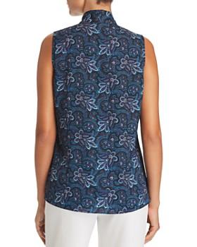 Le Gali - Dulcie Printed Tie-Neck Blouse - 100% Exclusive