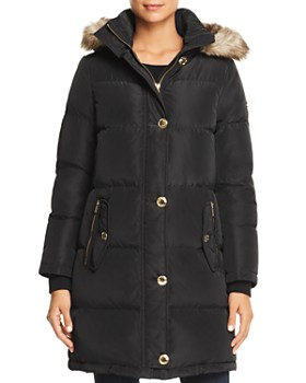 MICHAEL Michael Kors - Faux Fur Trim Puffer Coat