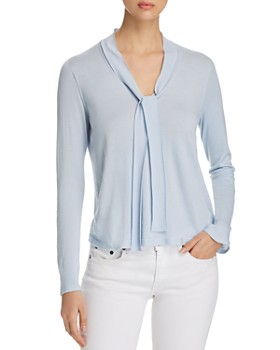 Eileen Fisher - Tie Neck Sweater - 100% Exclusive