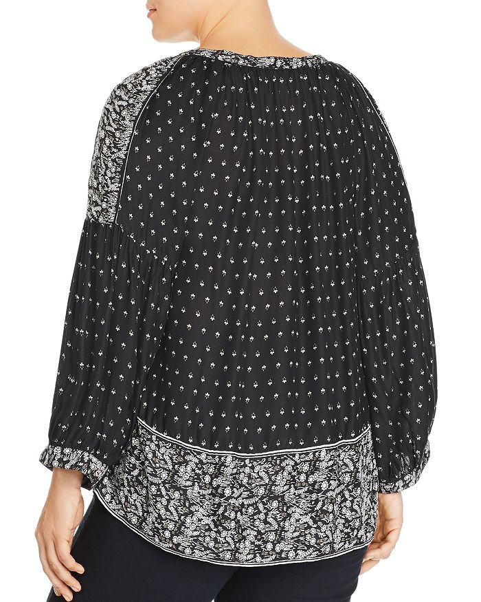 0ce7a626d5b98 Lucky Brand Plus - Printed Peasant Top