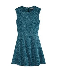 Miss Behave - Girls' Patricia Metallic Knit Dress - Big Kid