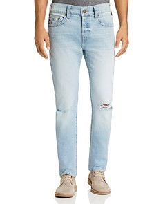 True Religion - Rocco Slim Fit Jeans in Worn Light Energy