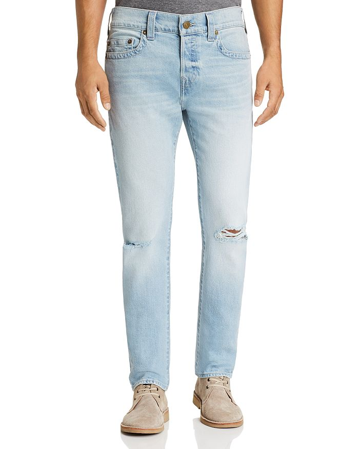 True Religion ROCCO SKINNY FIT JEANS IN WORN LIGHT ENERGY