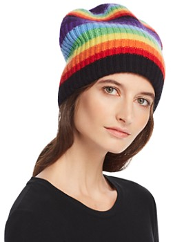 16805a510 Madeleine Thompson - Rainbow-Stripe Cashmere Hat ...