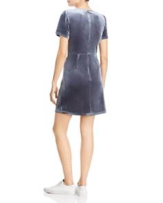 AQUA - Twist-Front Velvet Dress - 100% Exclusive