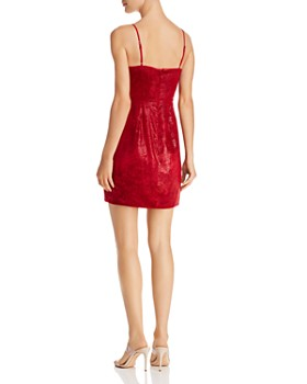 BCBGMAXAZRIA - Velvet Faux-Wrap Dress