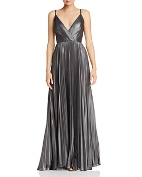 Laundry by Shelli Segal - Metallic Pleated Gown - 100% Exclusive