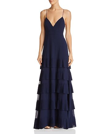 Fame and Partners - Rosen Tiered-Pleat Gown