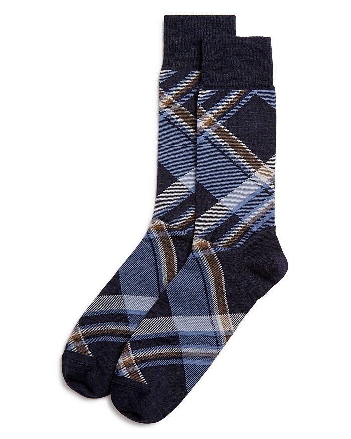 The Men's Store at Bloomingdale's - Diagonal Plaid Socks - 100% Exclusive