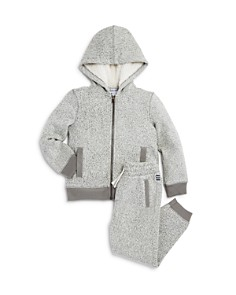 Splendid - Boys' Marled Fleece Hoodie & Jogger Pants - Little Kid