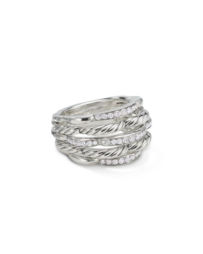 David Yurman Tides Dome Ring with Diamonds   | Bloomingdale's