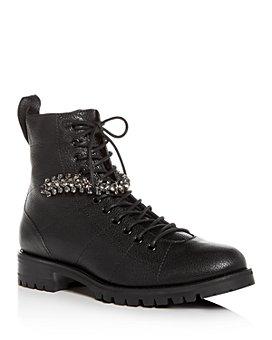 Jimmy Choo - Women's Cruz Embellished Low-Heel Boots
