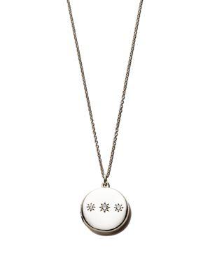SASHA SAMUEL Sterling Silver Adriane Locket Necklace With Cubic Zirconia, 20