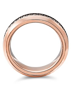David Yurman - Streamline Band Ring in 18K Rose Gold with Cognac Diamonds