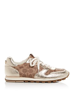 COACH - Women's C118 Mixed Media Low-Top Sneakers