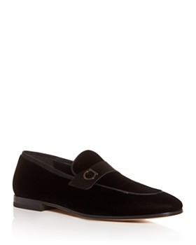 Salvatore Ferragamo - Men's Andrea Velvet & Satin Apron Toe Loafers