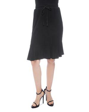 B COLLECTION BY BOBEAU B Collection By Bobeau Renata Ruffle-Hem Skirt in Black