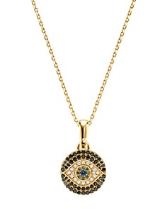 Michael Kors - Custom Kors Evil Eye Necklace in 14K Gold-Plated Sterling Silver, 16""