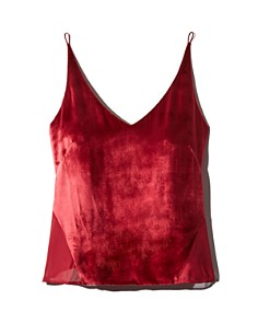 J Brand - Lucy Velvet-Front Camisole Top