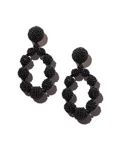 Sachin and Babi - Silk Georgette Teardrop Clip-On Drop Earrings