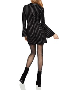 BCBGeneration - Pinstriped Tuxedo Dress
