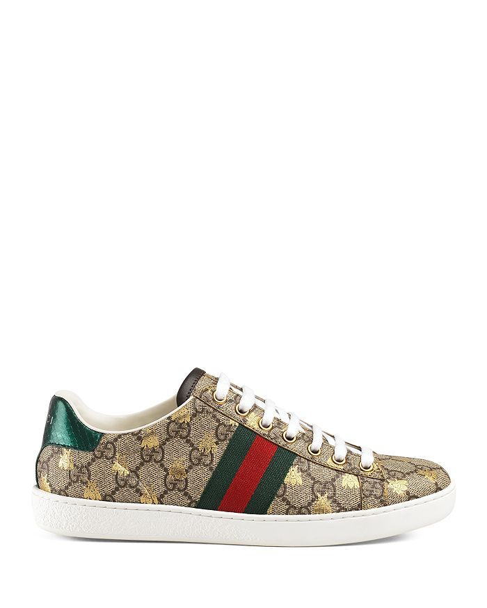 9182942e6 Gucci Women's New Ace GG Supreme Sneaker with Bees | Bloomingdale's