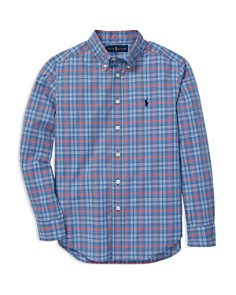 Ralph Lauren - Boys' Plaid Cotton Poplin Shirt - Big Kid