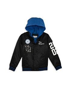 True Religion - Boys' Hooded Varsity Bomber Jacket - Little Kid, Big Kid